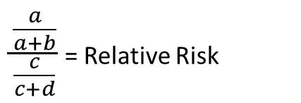 relative risk calculation